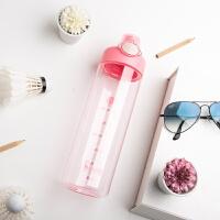 bianli倍乐水杯户外运动塑料成人学生便携创意水壶锁扣杯800ml