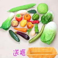 仿真水果装饰品 蔬菜水果道具假辣椒大白菜串模型拍摄橱柜样板装饰品
