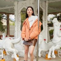伊芙丽短款羽绒服女2020冬季新款韩版宽松面包服加厚保暖连帽外套