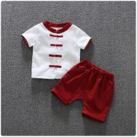 男童汉服1一3岁儿童夏季棉麻改良民族风唐装女宝宝复古中国风套装