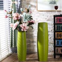 陶瓷落地大花瓶现代简约摆件客厅大号干花插花仿真花陶罐生活日用创意家居