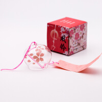 日本日式玻璃樱花风铃创意家居卧室挂件和风挂饰门饰女生生日礼物