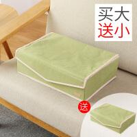 内衣收纳盒抽屉式布艺整理箱内裤袜子收纳箱分格家用抽屉内分隔盒 青草绿