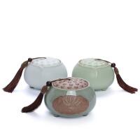 茶叶罐陶瓷密封罐子 大号中号小号存储罐包装盒
