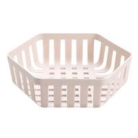 北欧竖纹水果篮简约沥水篮客厅小号水果盘家用创意塑料篮