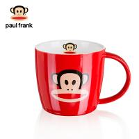 男女马克杯红色家用办公室早餐牛奶杯咖啡杯陶瓷水杯卡通杯 红色