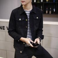 黑色牛仔衣褂春秋外套男士韩版潮流修身帅气春季新款上衣夹克学生 X 911