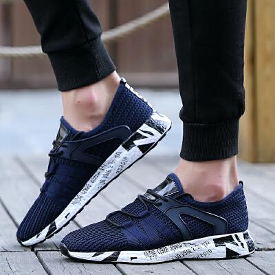 春季新款运动鞋男韩版网布鞋跑步鞋百搭板鞋男士休闲鞋子潮鞋