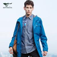 【七匹狼户外】秋季 系列防雨都市旅行立领软壳时尚夹克外套 男装 1064608