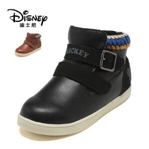 【达芙妮集团】迪士尼 冬季时尚平跟男童短靴低筒短靴男