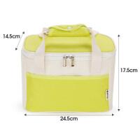 加厚保温袋便当包饭盒袋保冷袋保鲜便携收纳包铝箔手提包大号 果绿色