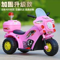 儿童电动车 摩托男女小孩踏板三轮车 炫酷电瓶越野警车可坐7fa