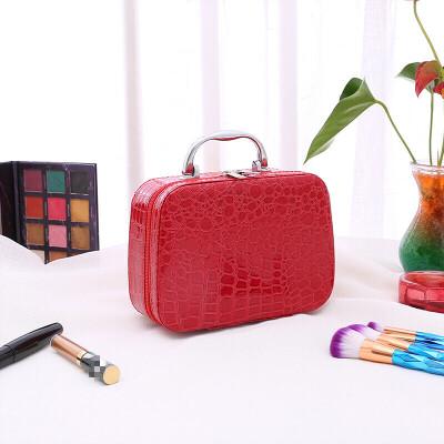 化妆箱 大容量大号小号便携简约少女心可爱收纳盒袋化妆箱手提