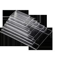 亚克力墙贴价签 墙贴式商品标价牌 透明平贴式地板瓷砖价格牌货架标签卡套 BX