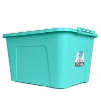 塑料汽车收纳箱大号58L衣物被子整理储物箱书箱收纳盒有盖3件