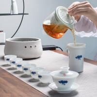 电陶炉蒸汽煮茶器玻璃家用全自动泡茶壶茶具套装
