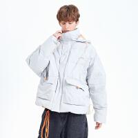 2.5折价:248;Lilbetter棉袄男连帽宽松加厚保暖外套潮牌帅气男士冬装棉衣