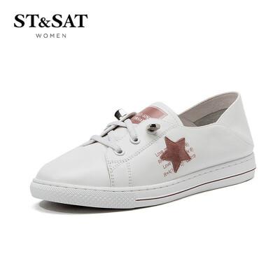 St&Sat/星期六春季新款星星鞋小白鞋女鞋单鞋SS91112145