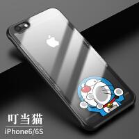 苹果6splus手机壳iPhone6女款潮男6s透明玻璃硅胶ip6p防摔全包超薄个性创意