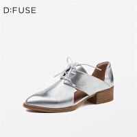 【限时3折】D:Fuse/迪芙斯春季商场同款方跟舒适女单鞋DF71112071