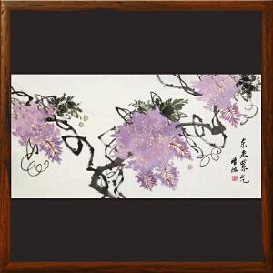 紫藤花《东来紫气》朱增旭R4924 一级美术师
