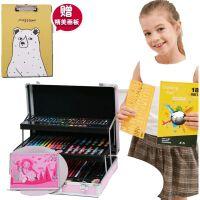 儿童画笔蜡笔水彩笔套装创意生日礼物画画小女孩绘画工具美术用品*小朋友创意礼品小学生绘画学习文具礼盒