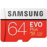 SAMSUNG三星 64G手机卡UHS-1 EVO Plus TF卡U3存储卡C10 100M/S专业版+ 4K高清