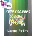 【中商海外直订】200 Cryptograms Large Print: Fun Brain Teasing Cryp