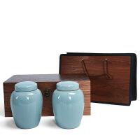 【特惠�】哥�G茶�~包�b盒茶�~罐陶瓷大�茶�~包�b盒空盒一斤�b�喂薅Y盒定制