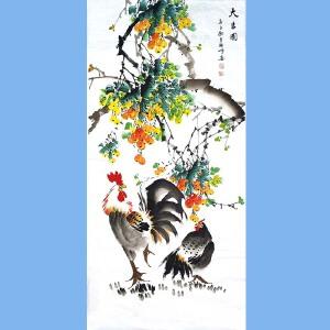 中国美协会员,中国书协会员,龙云书画院院长候桂峰(大吉图)1