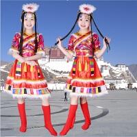 儿童少数民族 演出服中小学藏族舞蹈水袖服装蒙古族表演服