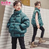 儿童韩版棉衣2018新款冬季洋气马甲女孩外套宝宝棉袄潮