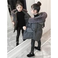 儿童棉衣2018新款冬季中长款洋气秋冬季女孩棉服外套