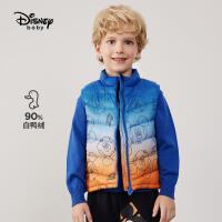 【2件4折券后价:116.7元】迪士尼童装男童轻薄羽绒马甲外穿秋冬季儿童羽绒服坎肩背心中大童