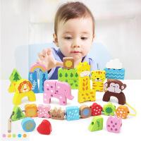 小男孩女孩早教绕珠1-3岁宝宝玩具穿线串珠子积木制
