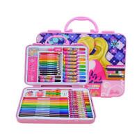 芭比绘画礼盒 创意绘画工具 男孩/女孩美劳派文具套装 儿童生日六一礼物 学习奖励品 多款可选颜色随机