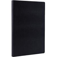 广博(GuangBo)16K120张皮面记事本/简约硬挺商务笔记本子 黑色GBP16733