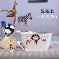 孕妇专用碗套装装家用卡通可爱单人餐具创意陶瓷碗吃饭碗碗筷套装