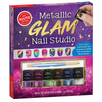 【中商原版】KLUTZ:魔幻指甲 英文原版 Metallic Glam Nail Studio 手工玩具 指甲油 10