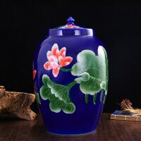 陶瓷米缸米桶带盖20斤30斤50斤100斤油缸面缸水缸腌肉泡菜坛酒缸