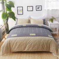 2019新款床上用品床单四件套版磨毛4件套床品套件