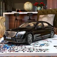 汽车模型诺威尔NOREV 1:18奔驰BENZ新S系 S450L AMG合金全开定制 黑色 现货