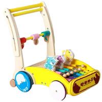 学步车手推车木制 儿童安全可升降多功能助步手推车学步车 防滑防翘木制音乐玩具车