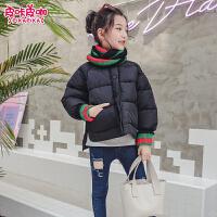 儿童短款棉衣2018新款秋冬季韩版外套女孩洋气棉服