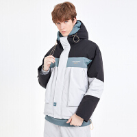 2.5折价:226;Lilbetter棉袄男2019新款韩版棉衣加厚冬季外套撞色连帽潮牌