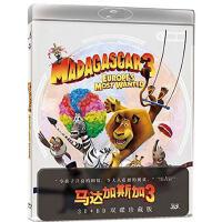 电影 马达加斯加3 蓝光 3D 2D 2BD50 DVD