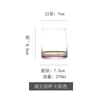 威士忌酒杯洋酒杯玻璃��意啤酒杯茶杯小杯子小�透明家用�凸哦兑�