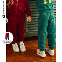 【直降价:44.9元】迷你巴拉巴拉儿童裤子男女童加绒加厚长裤冬季新款保暖休闲裤