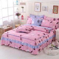 床上用品版磨毛活性�棉��q�W式床罩床裙四件套