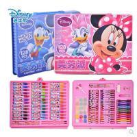 【开学必备文具】包邮迪士尼儿童文具礼盒绘画套装美劳派72/90/128件蜡画笔水彩笔